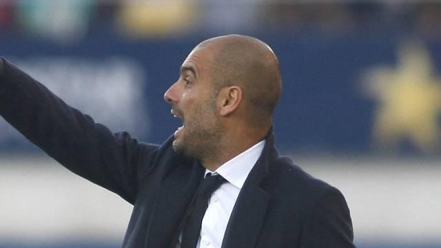 Pep Guardiola steht mit seinem Team vor einer schweren Aufgabe