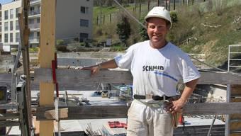 In Umiken ist Beat Portmann seit dem 23. März am Bauen.
