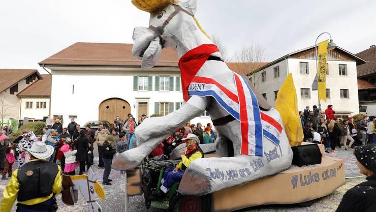 Fastnachtsumzug Würenlingen 2017: Lucky Luke Würenlingen Keller und Meier's Kinder, Würenlingen