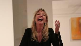 Lala Ackermann bei ihrem Auftritt.