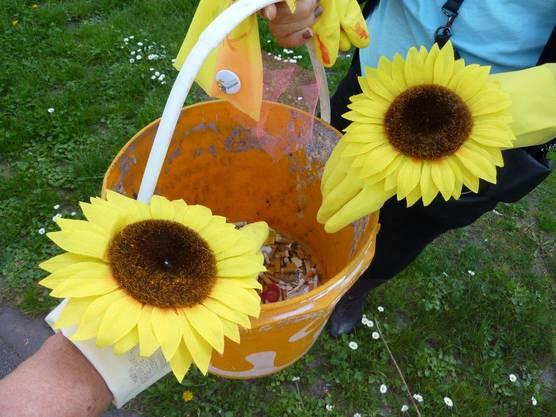 Mit Blumenkraft gegen Abfall im öffentlichen Raum.