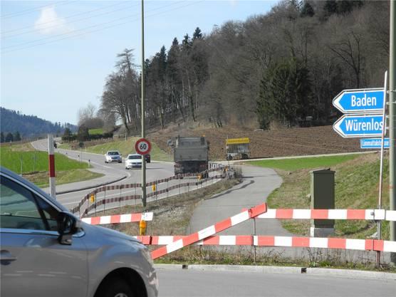 Radweg in Oetwil: 2018 geht es hier weiter