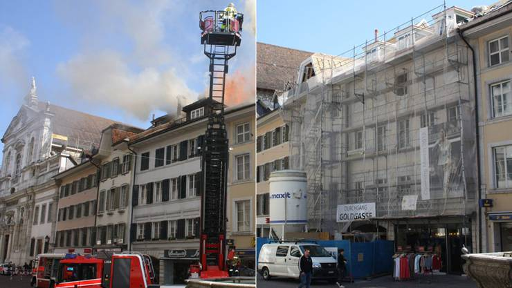 Altstadt-Häuser vor einem Jahr und heute