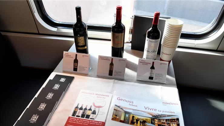 Kein Wein in SBB-Zügen wegen Umstellung auf neue Lieferanten: Ab dem 1. November gibt es Mövenpick-Weine. key