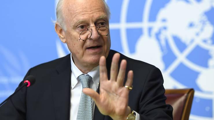 Wird an den neuen Syrien-Gesprächen am Samstag in Lausanne dabei sein: Der UNO-Sondergesandte Staffan de Mistura. (Archiv)