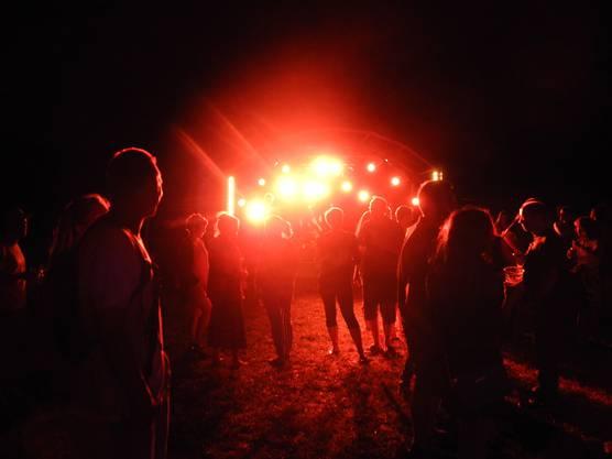 Die Nacht wird rot beim Open-Air