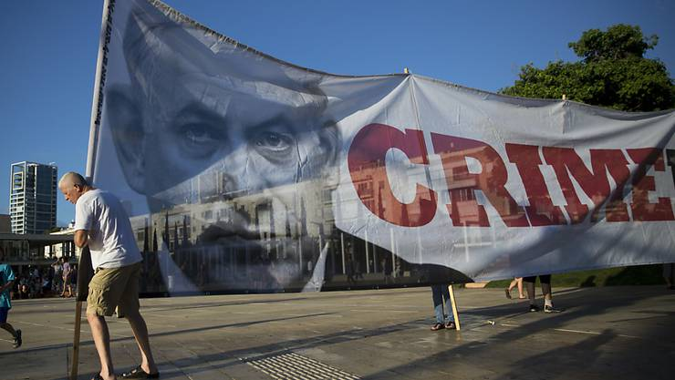 Protest gegen das neue Nationalitätsgesetz in Tel Aviv.