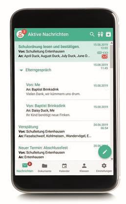 Klapp ersetzt auch die Kommunikation über Whatsapp.