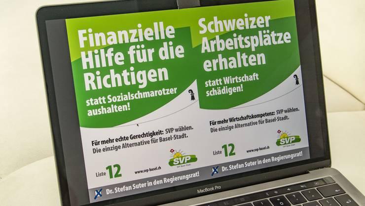 Die SVP sieht sich – kaum zufällig – als «einzige Alternative für Basel-Stadt».