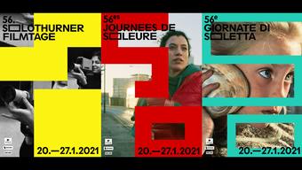 Die neuen Plakate der 56. Solothurner Filmtage: in die Zukunft gerichtet und weiblich.