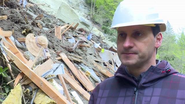 Felssturz zerstört Haus