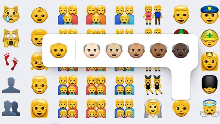 Ein Emoji für alle Gelegenheiten: Jetzt wurde die Palette erweitert - viel mehr politische und andere Korrektheit, dafür weniger Brauchbarkeit.Keystone