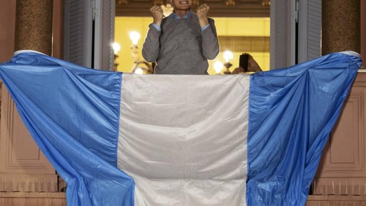 """Die Ratingagentur Standard & Poor's (S&P) hat die Umschuldungspläne Argentiniens unter Präsident Maurizio Macri als """"Zahlungsausfall"""" gewertet. (Archiv)"""