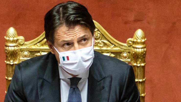 Giuseppe Conte, Premierminister von Italien, spricht bei einer Senatssitzung. Foto: Mauro Scrobogna/LaPresse via ZUMA Press/dpa
