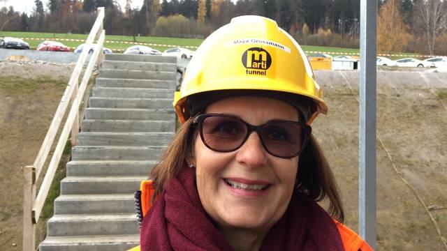 «Ich bringe dann mal Bier oder eine Suppe für die Arbeiter vorbei»: Tunnelpatin Maya Grossmann aus Weiningen im Video-Interview