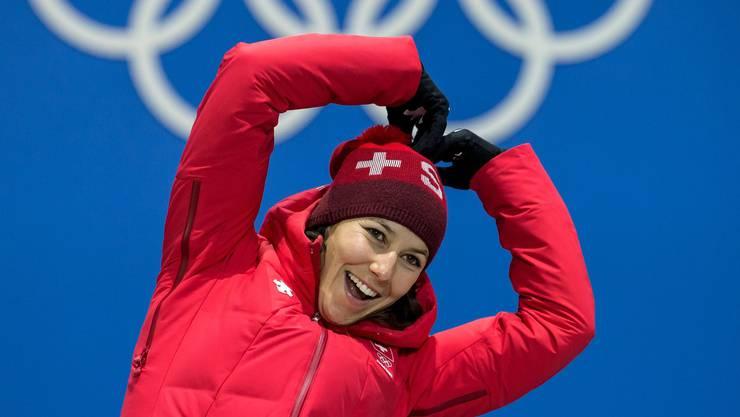 Darf sich Wendy Holdener künftig an Olympischen Spielen auch selbst vermarkten? Bild: key