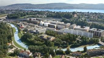 Das Greencity-Quartier in Zürich Manegg verwendet zu 100 Prozent erneuerbare Energien. (Visualisierung)