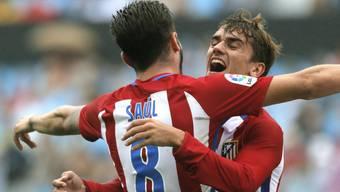 Atletico Madrid mit Saul und Doppeltorschütze Antoine Griezmann konnte beim 4:0 auswärts gegen Celta Vigo erstmals in dieser Saison jubeln