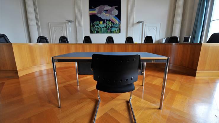 Verhandlungssaal des Obergerichts in Solothurn: Müssen die Richter hier mehr Transparenz in eigener Sache an den Tag legen? Archiv
