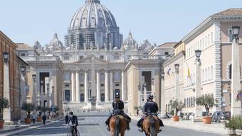 Berittene Polizeipatrouille in Rom. (Archivbild)
