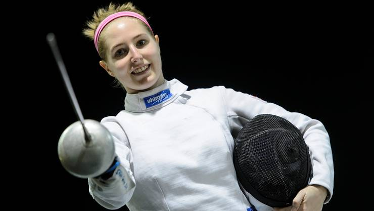 Degenfechterin Laura Stähli verabschiedet sich nach der Qualifikation.