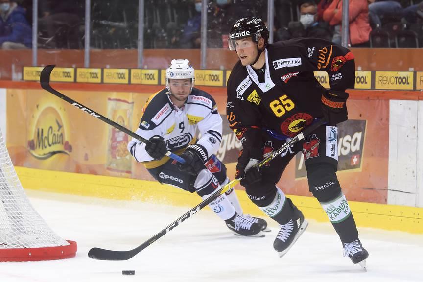Ramon Untersander (rechts) vom SC Bern wuchs in Widnau auf.