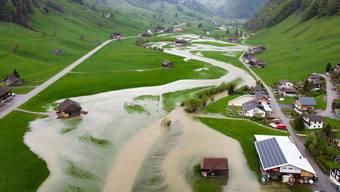 Die Thur trat nach starken Niederschlägen im Mai dieses Jahres stellenweise über die Ufer, hier in Alt St. Johann.
