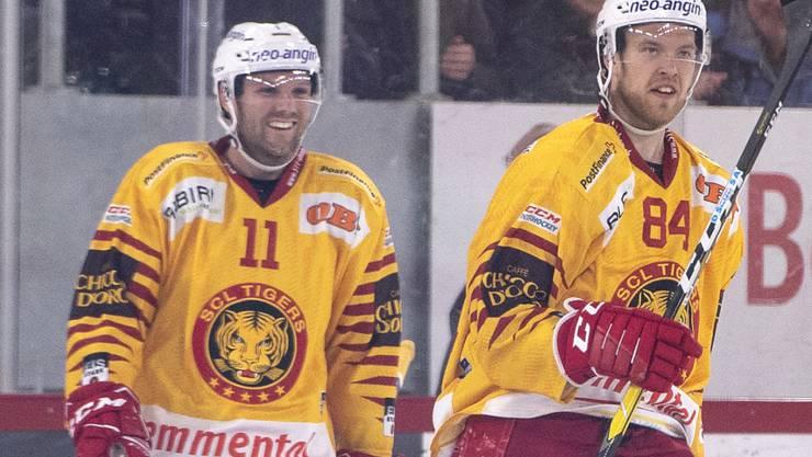 Aaron Gagnon (links), hier mit seinem früheren Teamkollegen Eero Elo