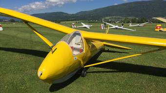 Das Rekord-Flugzeug, die Spalinger S-19 HB-225.