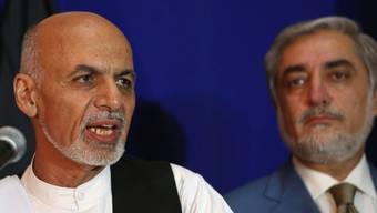 Ghani (l.) und Abdullah: Die Zeichen stehen auf Konfrontation