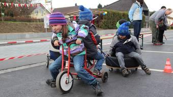 Alles, was Räder hatte, kam bei den Kindern besonders gut an.