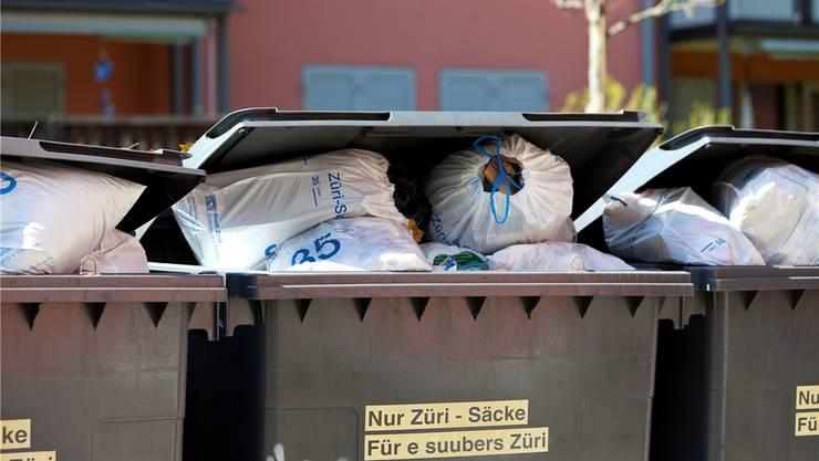 Abfall in Zürich Albisrieden. Die Befürworter fordern Gebühren-Transparenz, die Gegner keine unnötige Bürokratie.