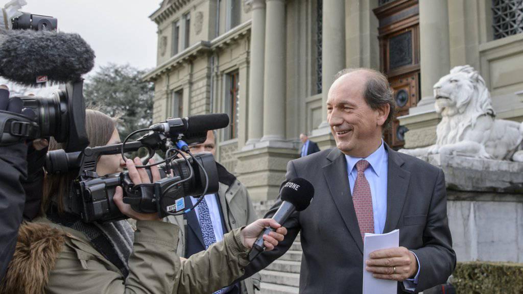 Wies die Mobbing-Vorwürfe einer ehemaligen Kaderfrau am Mittwoch zurück: Nestlé-CEO Paul Bulcke nach seiner Aussage vor dem Bezirksgericht Lausanne.