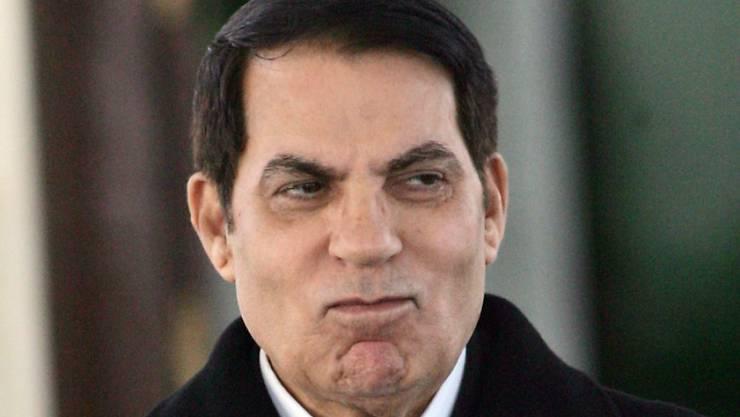 Ein Schwiegersohn von Tunesiens Ex-Präsident Ben Ali (Bild) ist wegen der Beteiligung an einem Korruptionsskandal in der Schweiz verurteilt worden.