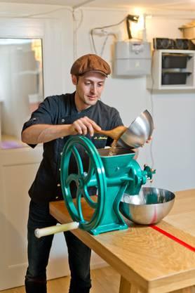 Michael Morskoi ist nicht nur Koch sondern auch Tüftler.