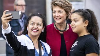 SP Wahlfest 2019 auf dem Schlossplatz in Aarau mit Bundesrätin Simonetta Sommaruga
