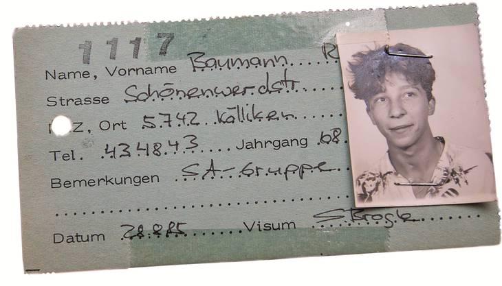 Teenager DJ Bobo: Der Ausweis von René Baumann der Tuchlaube Aarau