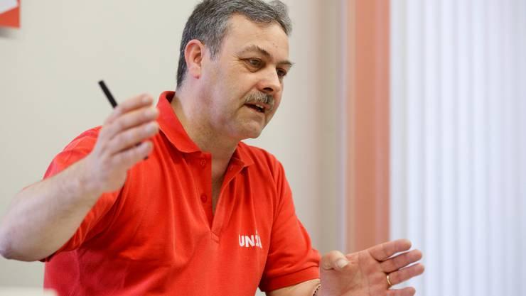 Markus Baumann, Chef der Sektion Solothurn der Gewerkschaft Unia tritt zurück. (Archiv)