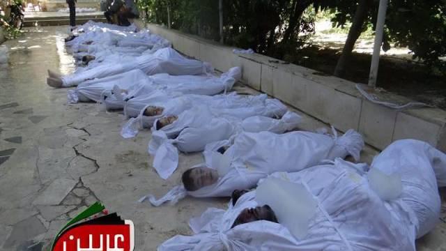 TV-Bilder nach dem Giftgasangriff vom 21. August.