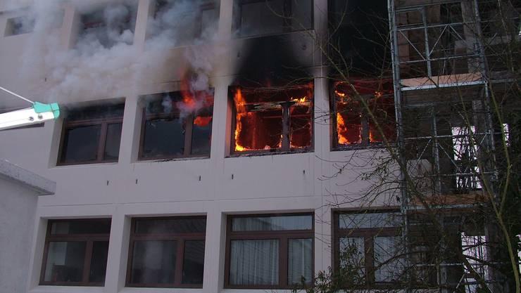 Brand in Asylbewerberunterkunft in Villmergen