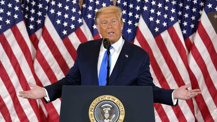 Reklamierte Wahlbetrug: US-Präsident Donald Trump am 4. November im Weissen Haus.