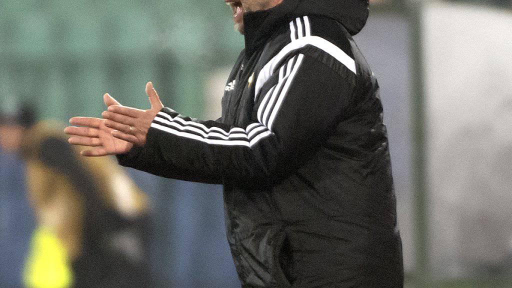 Urs Fischer treibt seine Mannschaft gegen Ludogorez Rasgrad an