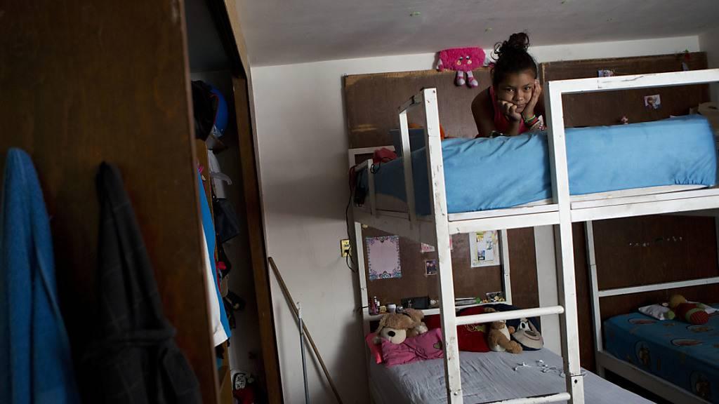 Honduranische Migranten sind auf dem Weg Richtung Südgrenze der USA. (Archivbild)