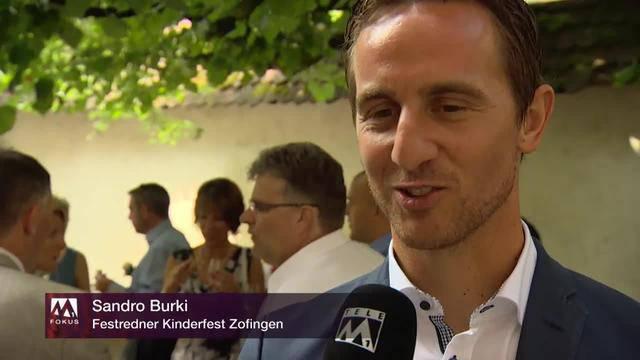 """Sandro Burki über Kinderfest-Rede: """"Tschutten ist einfacher"""""""