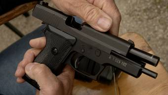 Eine SIG P220 im Kaliber 9mm Para, in der Armee als Pistole 75 bekannt.