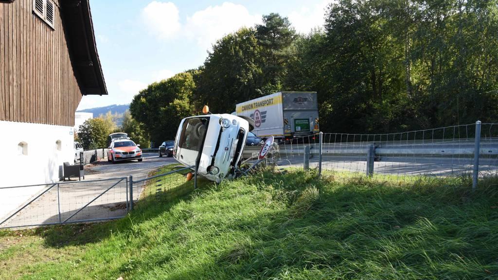 29-Jährige baut Selbstunfall mit Auto
