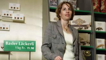 Miriam Blocher, Chefin des Läckerli Huus, am Firmenhauptsitz in Münchenstein
