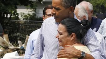 Obama zeigt Mitgefühl mit den Betroffenen im zerstörten Gebiet