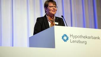 Hypi-CEO Marianne Wildi darf für 2017 ein positives Geschäftsergebnis präsentieren. (Archivbild)