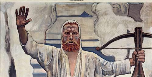 """Als Mosaik fürs Landesmuseum abgelehnt, als Gemälde erfolgreich. Hodlers """"Willhelm Tell"""" von 1910."""